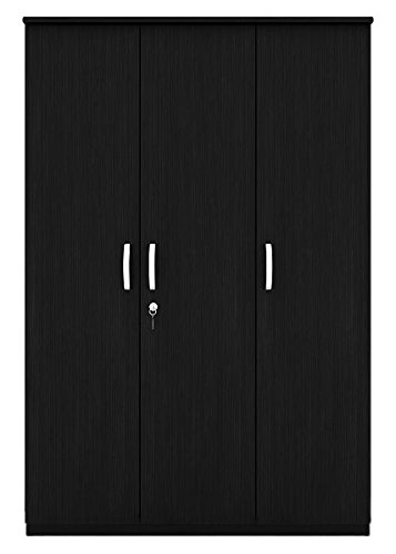 Housefull Malvern 3-Door Wardrobe (Black Oak)