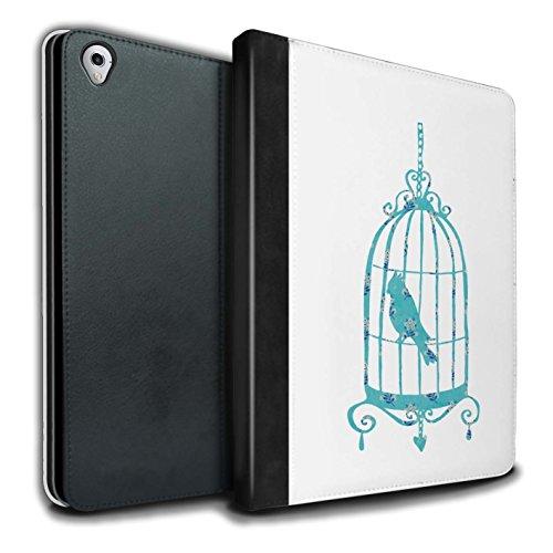 STUFF4 PU-Leder Hülle/Case/Brieftasche für Apple iPad Pro 9.7 tablet / Vogelkäfig Muster / Teal Mode Kollektion