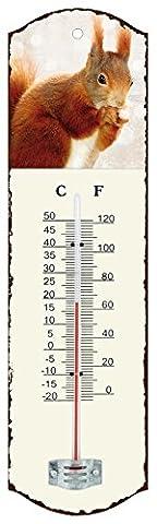 Générique 0503 Thermomètre Métal Blanc 26,5 x 0,2 x 7,5 cm