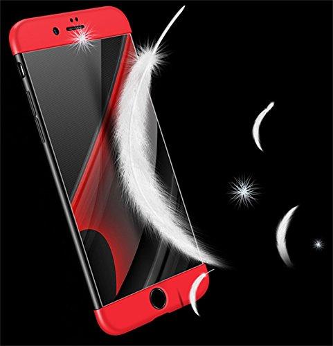 iPhone 6Cover, aostar 3in 1Ultra Sottile PC dura Case 360gradi Full Body bandiera custodia case cover bumper custodia protettiva rigida per iPhone 6/6S, Plastica, nero, iPhone 6/6s Gold