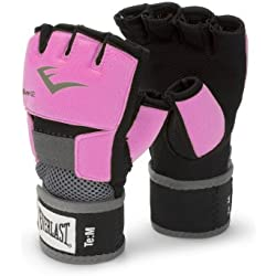 Everlast Ever-Gel - Guantes de boxeo para mujer (con gel), color rosa, talla S