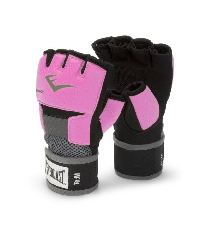 Everlast Ever-Gel - Guantes de boxeo para mujer (con gel) color rosa, talla M
