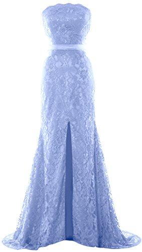 MACloth Donna Sirena senza spalline abito da sera festa di nozze formale Prom Dress Sky Blue 34