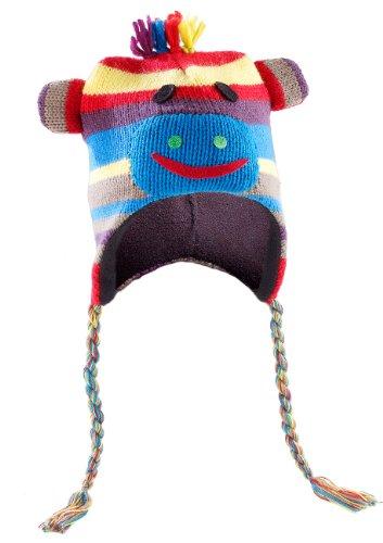 PEARL urban Mütze mit Ohren: Tiermütze bunter Affe, universelle Größe (Mütze mit Tier-Gesicht)