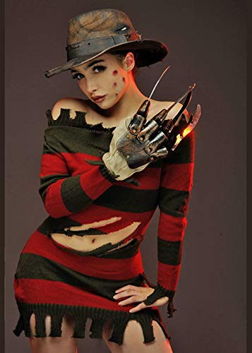 Magic Box Int. Deluxe Miss Freddy Krueger Kostüm für Damen M (UK 12)