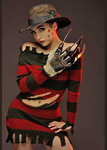 Magic Box Int. Deluxe Miss Freddy Krueger Kostüm für Damen M (UK 12) (Miss Krüger Kostüme)