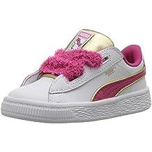 Puma Kids' Minions Basket Heart Fluffy Inf Sneaker