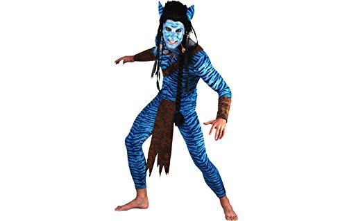 Kriegerkostüm Blauer Dschungel Krieger Kostüm Herren Gr. (Kostüm Bulldozer)