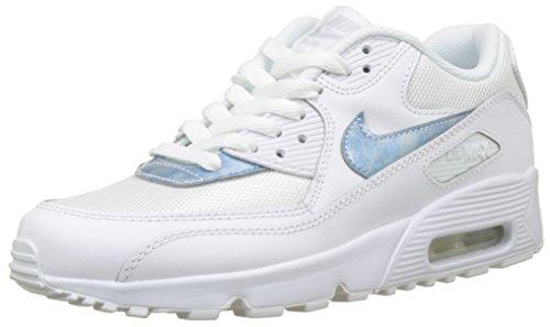 Nike Jungen Air Max 90 Mesh (gs) Gymnastikschuhe, Weiß Royal Tint/White 111, 36 EU (Nike-schuhe Kinder Skate)