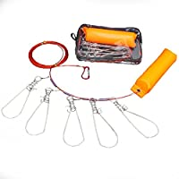 YeBetter Clip de Pesca pez Bloqueo Cuerda de Alambre de Acero Inoxidable Peces Vivos cerradura5 broches de Metal