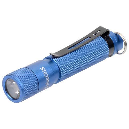 Sofirn C01S, Kleine Taschenlampe, 100 Lumen, 2 Helligkeitsmodi, 95 CRI SST20 4000K LED EDC Taschenlampe Blau (Ohne Akku) (Led-taschenlampe Cri)