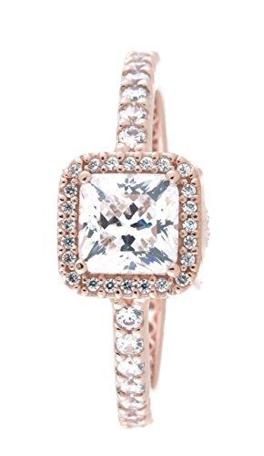 PANDORA Timeless Elegance Ring, PANDORA Rose & Clear CZ 180947CZ-50 EU 5 US
