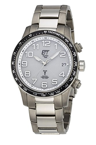 ETT Eco Tech Time Funk Solar Herren Uhr Analog mit Titan Armband EGT-11274-12M