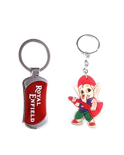Parrk Royal Enfield Full With Bal Ganesh Key Chain  available at amazon for Rs.155