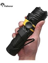 Regenschirm mini leicht, Pathonor Taschenschirm Regenschirm faltender Visier-Sonnenschutz-Regenschirm Im Freien UV-faltender Regenschirm, klein, leicht & kompakt.