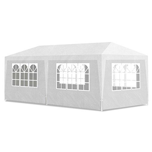 Tonnelle de jardin/ Pavillon de Jardin/Tente de réception Chapiteau Blanc 3x6m