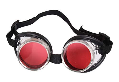 Fun - Schraubringbrille / Schweißerbrille mit orangen - Kostüm Stadt