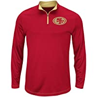 """San Francisco 49ers Majestic """"Ready"""" Men's 1/4 Zip Therma Base Pullover Shirt"""