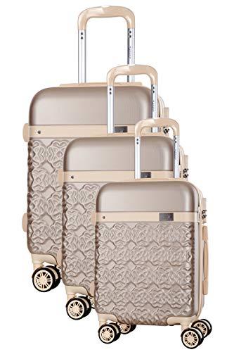 Physalis Koffer mit 8 Rädern, S/M/L, Beige, 3 Stück