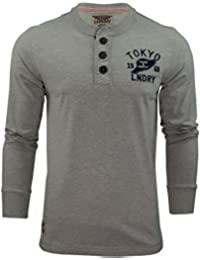 Tokyo Laundry Mens Long Sleeved T-Shirt by Grandad Neck