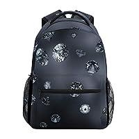 Eslifey Diamonds Pattern Backpack Students Shoulder Bags Travel Bag College School Backpacks