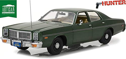 Greenlight Voiture Miniature Dodge Monaco Rick Hunter Inspecteur Choc 1977 1/18 en Métal