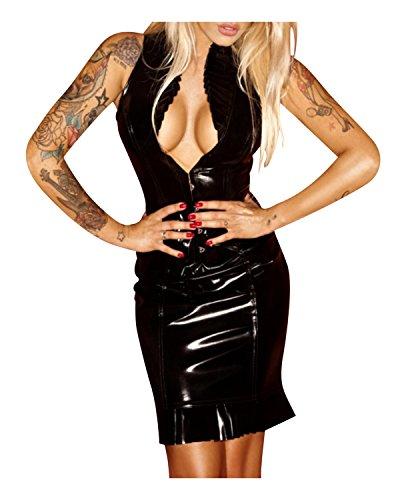 Superbia–Noir HandMade robe PVC Schwarz