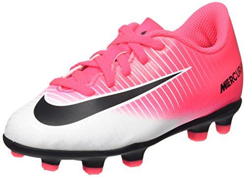 Nike Unisex-Kinder Jr Mercurial Vortex III FG Fußballschuhe, Pink (Racer Pink/Black White White), 35.5 EU
