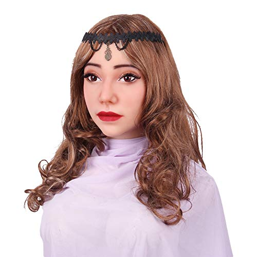 Erwachsenen Roboter Kostüm Frau Für - Realistisch Weiblich Gesicht Handgemacht Silikon Kopf Maske Zum Crossdresser Transvestit, Cosplay Halloween Kostüme Parodie Geschenk, Als Frau Verkleidet