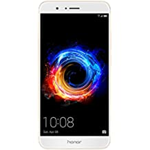"""Honor 8 Pro - Smartphone libre de 5.7"""" (6 GB de RAM, 64 GB de memoria interna, Emotion UI5.0 compatible con Android 7.0, Kirn 960 octa core, cámara de 12 MP + 12 MP, frontal 8 MP), color oro"""