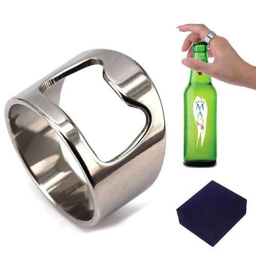 Flaschenöffner-Ring für Männer / Frauen, praktisch, Titan 9