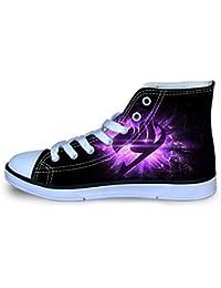 YGHJGOO Fairy Tail Zapatos Zapatos de los niños Ligeros Zapatos Zapatos de la Zapatilla de Lona High-Top Zapatos cómodos Zapatos Planos niños y niñas