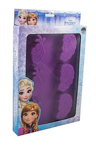 P:OS Handels GmbH 28248 Backform, 6er, Disney Frozen ELSA und Olaf, ca. 28 x 20 cm, 100% lebensmittelechtes Platin-Silikon, hitze-und kältebeständig von 230° bis-60°C, bunt