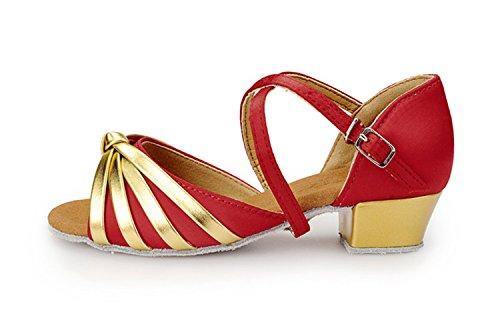 Miyoopark - Ballroom donna Red/Gold-3.5cm Heel