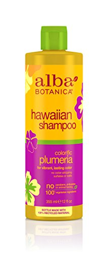 Alba Botanica Natural Hawaiian Shampoo Colorific Plumeria 350ml by Alba Botanica -