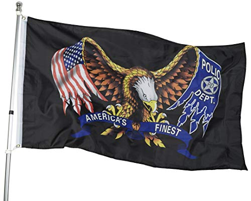 flyingflags USA Pow Mia Eagle Flagge - All Gave Some, Some Gave All Pow MIA Eagle - 3 'x 5' strapazierfähigem Polyester Indoor Outdoor Banner 3x5ft Red,Blue -