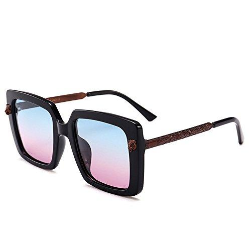 Yiph-Sunglass Sonnenbrillen Mode Persönlichkeit großen quadratischen Leopard Kopf Dekoration uv-Schutz Sonnenbrille für Frauen männer im freien Fahren Urlaub Sommer Strand (Farbe : C5)