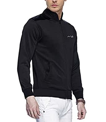 AWG Mens Black Premium Polyester Rider Jacket - AWGDFT-JKT4-BL-M
