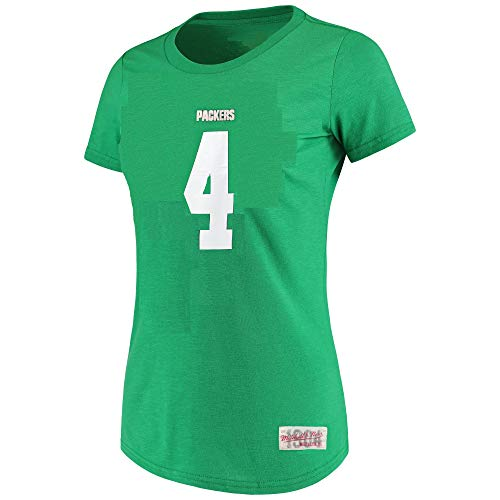 Mitchell & Ness Brett Favre Green Bay Packers #4 Damen Spielername & Nummer T-Shirt, Damen, grün, Medium