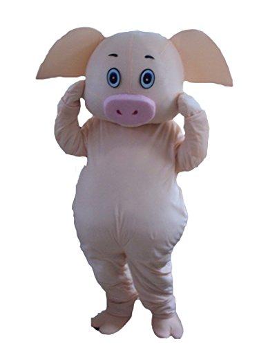 ig Halloween Maskottchen Kostüm für Erwachsene Fancy Dress Outfit (Schwein Maskottchen Kostüm)