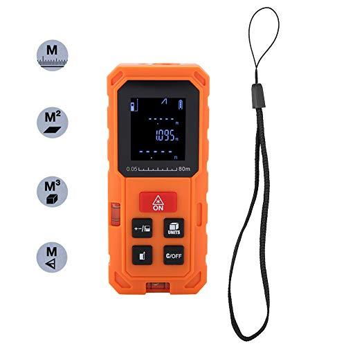 Akozon Laser Entfernungsmesser 100m tragbarer digitaler Laser-Entfernungsmesser Laser-Entfernungsmesser-Entfernungsmesser(S80)