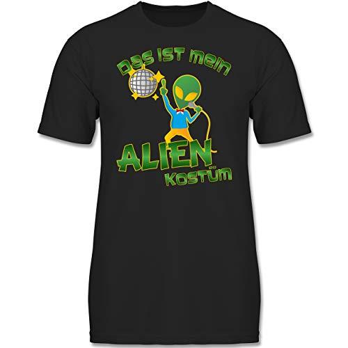 Kostüm Alien Junge - Karneval & Fasching Kinder - Das ist Mein Alien Kostüm Disco - 140 (9-11 Jahre) - Schwarz - F130K - Jungen Kinder T-Shirt