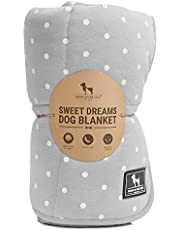 Heads Up For Tails Sweet Dreams Large Dog Blanket (Light Grey)