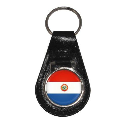 Paraguay Flagge Design Leder Schlüsselanhänger