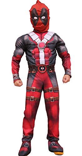 Deadpool Cosplay Halloween Kostüm Kinder Rollenspiel Jungen Outfits