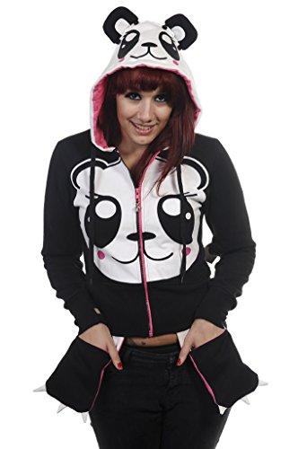 Banned Hoodie / Jacke Sweet Panda - Girlie Schwarz