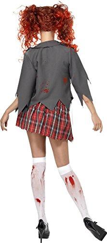 Smiffy's 32929L High School Horror-Cheerleader-Zombiekostüm, L, grau -