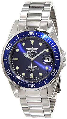 Invicta Herren Analog Quartz Uhr mit Edelstahl Armband 9204
