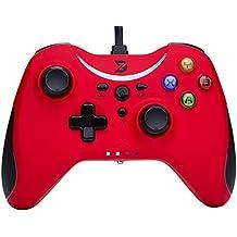 ZD T Gaming USB con cable controlador gamepad Mando para PC (Windows XP / 7 / 8 / 8.1 / 10) & PlayStation 3 & Android & Steam - No apoyo la Xbox 360 / One[red]