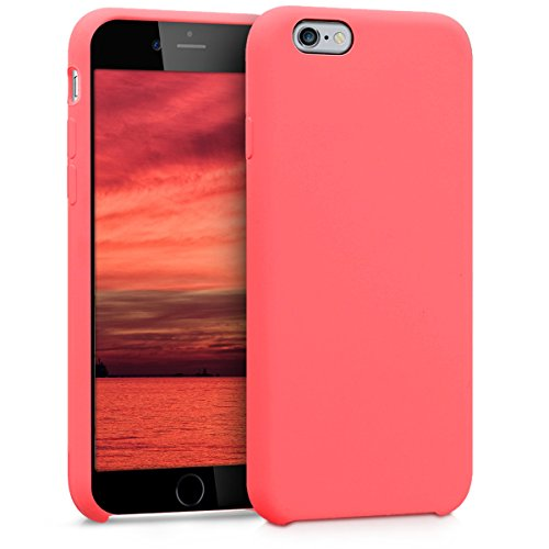 kwmobile Funda para Apple iPhone 6 / 6S - Carcasa de [TPU] para teléfono móvil - Cover [Trasero] en [Coral neón]